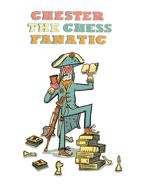 Chester The Chess Fanatic.  A character design piece based on a NYC street urchin.