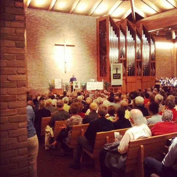 Eric Metaxas speaks at St. Philip the Deacon in Plymouth, Minnesota. (Taken with instagram)