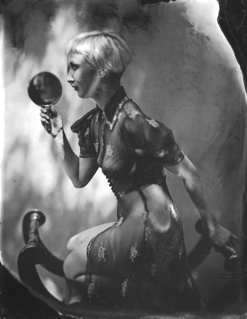 allanbarnes:  Luicenne Elora, 4.2012  wpc on glass (ambrotype)