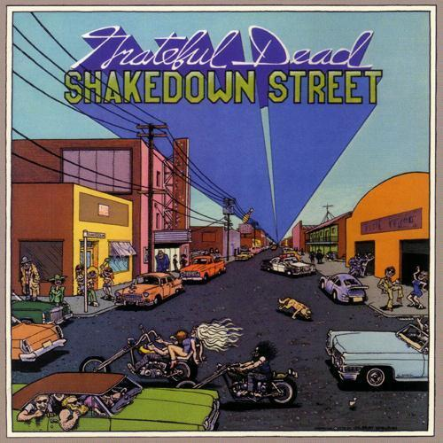fuckyesgratefuldead:  Shakedown Street, 1978.  Cover art by Fabulous Furry Freak Brothers artist Gilbert Shelton.
