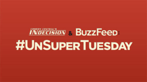 #UnsuperTuesday? Sounds awesome.  ccindecision:  Who says tomorrow night's East Coast GOP primary returns will be boring? Catch the BuzzFeed/Indecision UnSuper Tuesday livestream at indecision.cc.com, buzzfeed.com/unsupertuesday or ustream.tv/unsupertuesday, starting at 7:30pm ET tomorrow, Tues. 4/24. Tweet at us! #UnSuperTuesday With your hosts: Ben Smith (BuzzFeed editor-in-chief), Zeke Miller (BuzzFeed reporter/Twitter machine) and Mary Phillips-Sandy (Comedy Central's Indecision editorial producer). There will be actual news, actual jokes and actual silly Photoshops. Obviously.