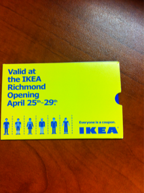 I found the IKEA coupons and won a $50 voucher! My obsessive twitter following finally paid off.