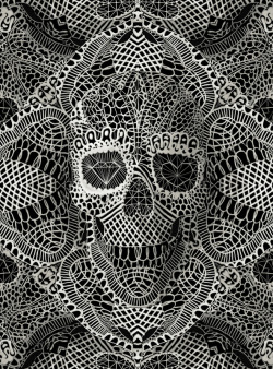 Lace Skull by Ali Gulec