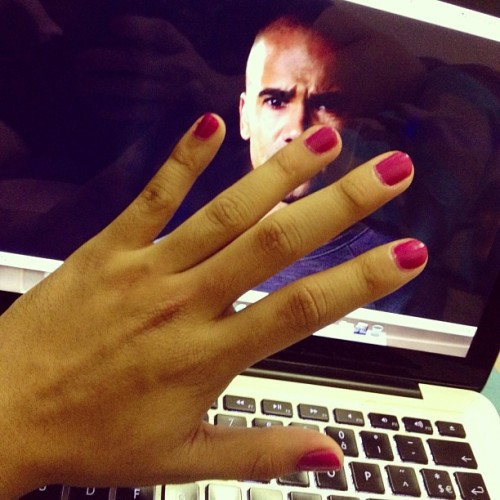 Criminal Minds + new nail polish (Taken with instagram)