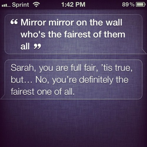 Ha. #Siri knows what's up.