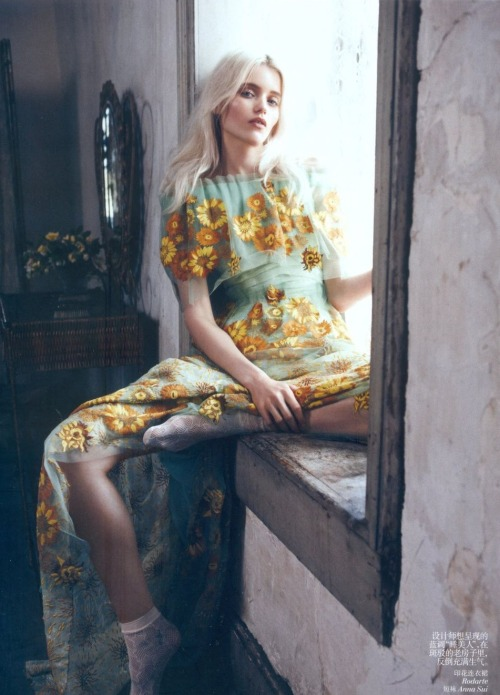 Bloom Forth - Abbey Lee Kershaw - Vogue China - May 2012