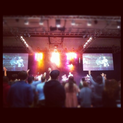 My last chapel at CalBaptistUniversity. #worship  (Taken with instagram)