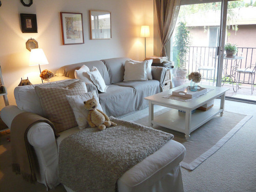 Neutral Living Room by almostbunnies on Flickr.
