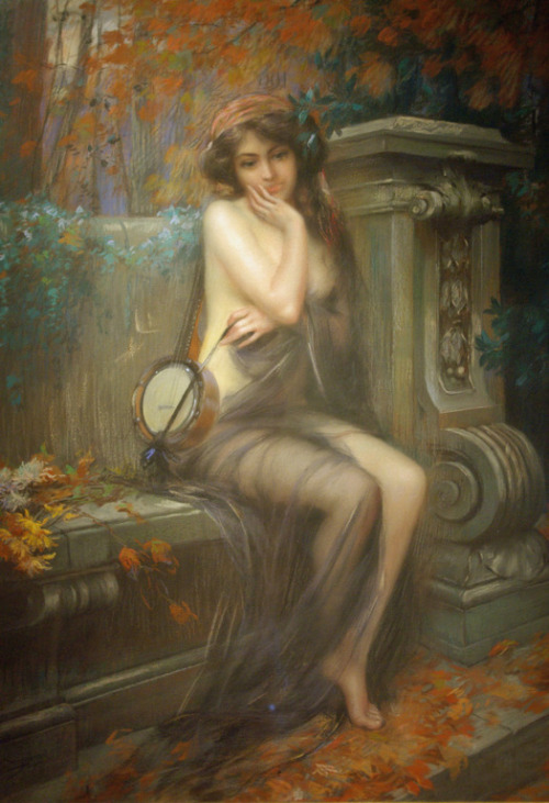 23silence:  Delphin Enjolras (1857-1945) - The Muse Of Autumn