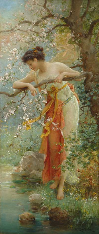 Hans Zatska (1859-1949) - Spring Beauty