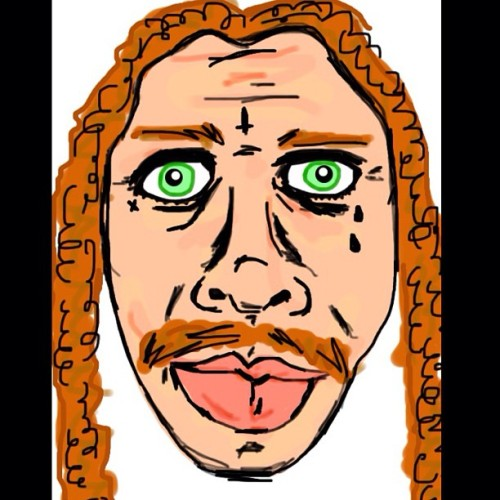 mackryan:  Drew this picture of my homie Todd on my IPhone.  My hope is that you'll double tap his face  (Taken with instagram)