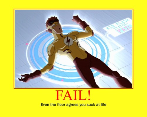 Kid flash fail by ~racerabbit