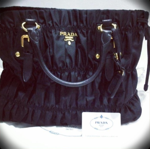 brand new prada bn1788 black tessuto with authenticity card, dustbag and receipt email jnah2011@gmail.com