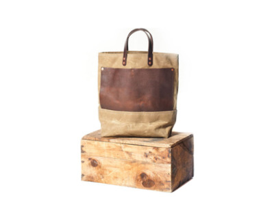 The Friday Find: Bexar Goods Co. Waxed Tote Sale.