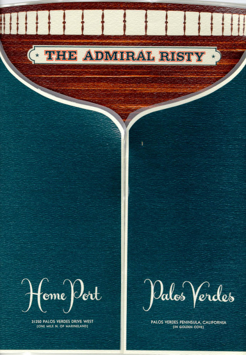 The Admiral Risty -  Palos Verdes, California (1975)