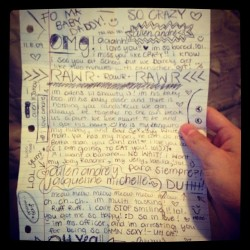Haha. Whoa dere! @jacque_lopez #true #relationship #sweet #cute #love #notes #memories #special  (Taken with instagram)