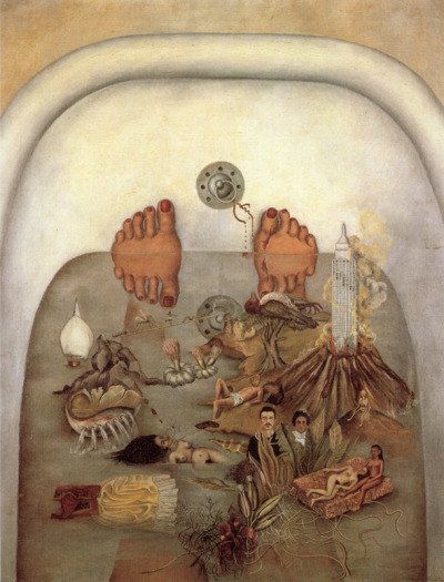 Frida Kahlo, What the water gave me (What I saw in the water), 1938 (Paris, France, collection Daniel Filipacchi)