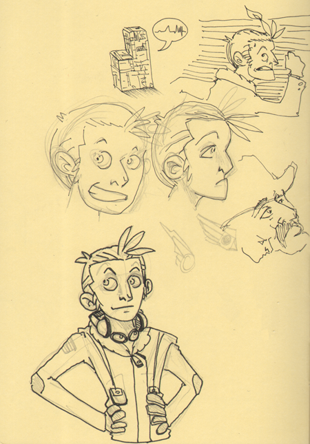 A few doodles of Roach. And that is Missingno of Pokemon Red/Blue fame near the top.