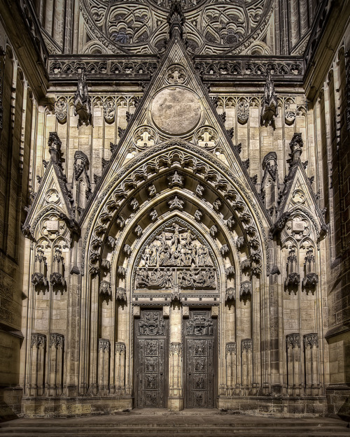 Door of St. Vitus Cathedral (founded in 1344) Prague By: Johnny Peacock