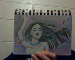 this is what happens when I become bored… I draw/color disney. bahaha I wish I was better with colored pencil but ehh what the hell here ya go!