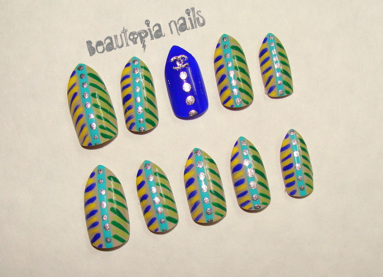 Urban Warrior nail set - will go up in the store soon.