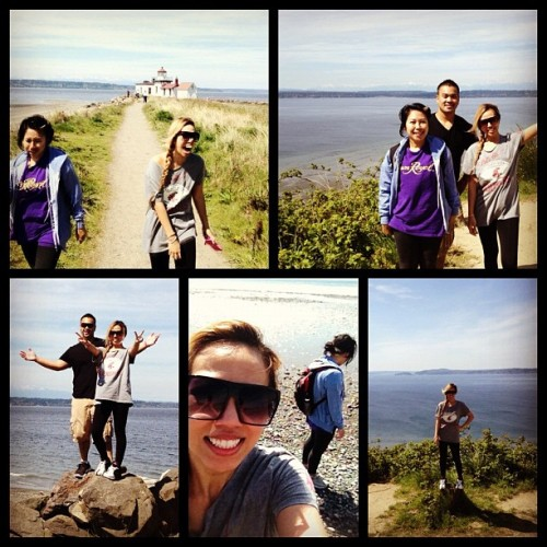 Discovery Park Loop Trail #workout #trail #hike #wa #cougars #sun #swag #crownroyal #ootd #cousin #buddy #monday #aprilphotoaday #instagram #iphone4s #cookie @fr4nk_d4_t4nk @mommagene (Taken with instagram)
