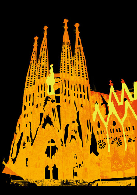 That church in Barcelona… should have made this into a screen print looking back on it.