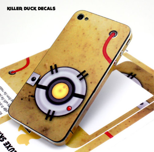 GLaDOS iPhone 4s Phone Decal This phone decal outputs an extra half-a-volt ;)