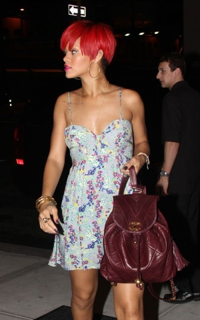 florealedance:  omg rihanna gimme that backpackkkk!! oh and that dress 2