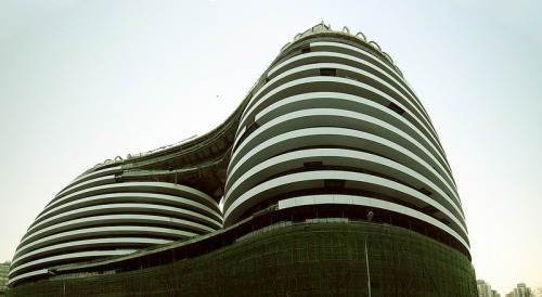 architizer:  Construction on Zaha Hadid's Galaxy SOHO in Central Beijing Progresses