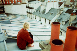 This picture makes me want to live on the blue rooftops of Paris.