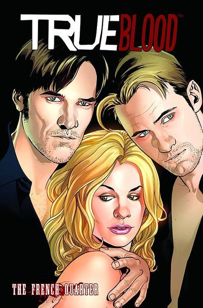 Market Monday True Blood Vol. 3: The French Quarter HC, co-written by Mariah Huehner, art by Claudia Balboni, inks by Elena Casagrande  In this sequel to the first NYT best-selling TRUE BLOOD miniseries, 'All Together Now,' mind-reading waitress Sookie Stackhouse is in New Orleans, helping Vampire Sherriff Eric Northman track down an insane killer named Guerra. Bill Compton's in town, too, making sure Eric doesn't get fresh with Sookie, and investigating a local Hep-D outbreak that may be connected to Guerra's latest victims. Meanwhile, back in Bon Temps, why is Pam hanging out at Merlotte's-and what does she want with Lafayette? Based on the HBO mega-hit created by Alan Ball.