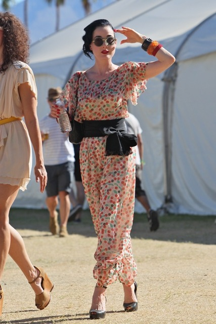 Dita Von Teese at Coachella 2012