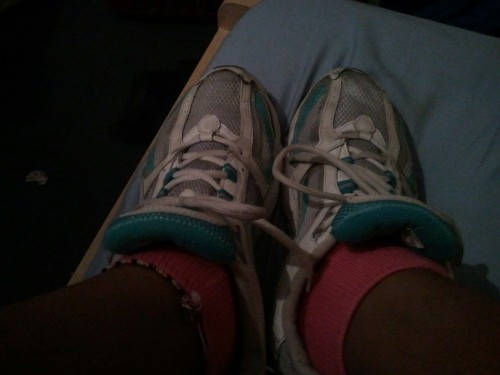 Bringing out the old running shoes.