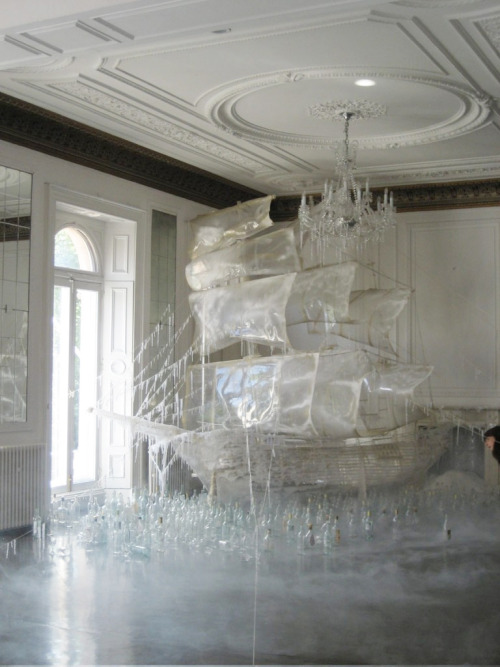 hellcas:   Ice ship sculpture created by set designer and art director Rhea Thierstein | Shot by Tim Walker  Holy Shit!!!  This is amazing!!!!!