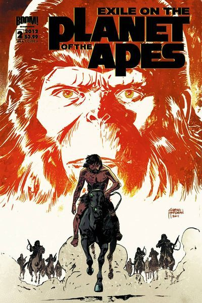 Market Monday Exile On The Planet Of The Apes #2, co-written by Corinna Bechko  In the clutches of feral humans, Timon the chimp must survive the terrors of the Forbidden Zone, while Prisca tries to seek help from the one ape that can uncover the secret behind the recent human attacks on apes! The epic from Gabriel Hardman (Hulk), Corinna Bechko (Fear Itself: The Home Front) and red hot artist Marc Laming (The Rinse) continues in this jaw-dropping issue!