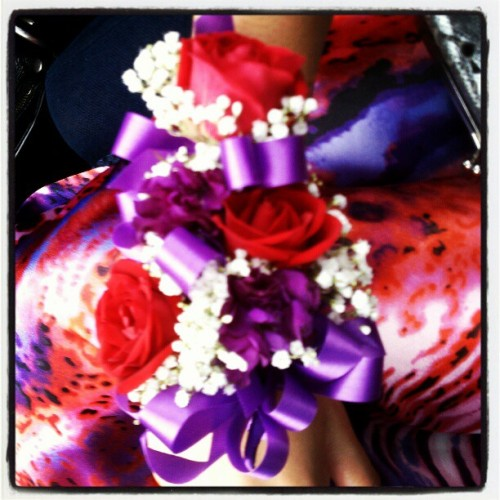 #corsage #prom2011 #throwback #pink #purple #cute #flowers  (Taken with instagram)