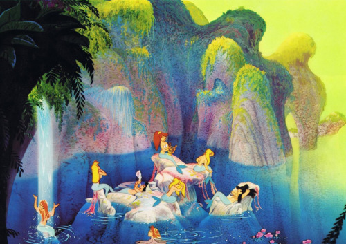 Peter Pan lobby card featuring Mermaid Lagoon (1953)