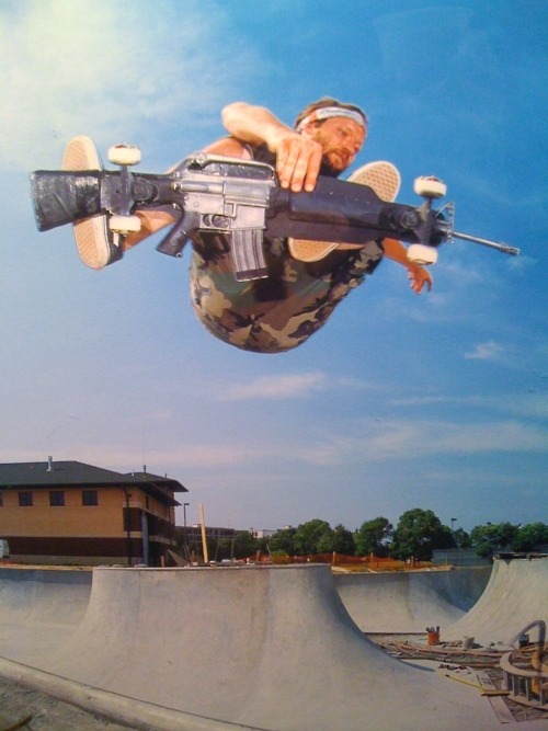 thebonechurch:  Machine Gun Skater