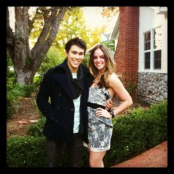 fyeahteenstars:  Max and Ali Castro (his girlfriend). They are perfect together, like seriously, they are.