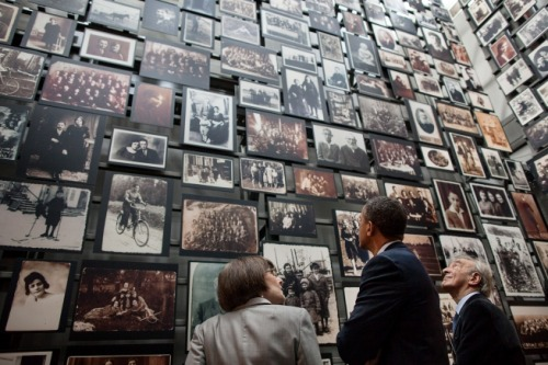 barackobama:  Photo of the day: President Obama and Elie Wiesel tour the United States Holocaust Memorial Museum.