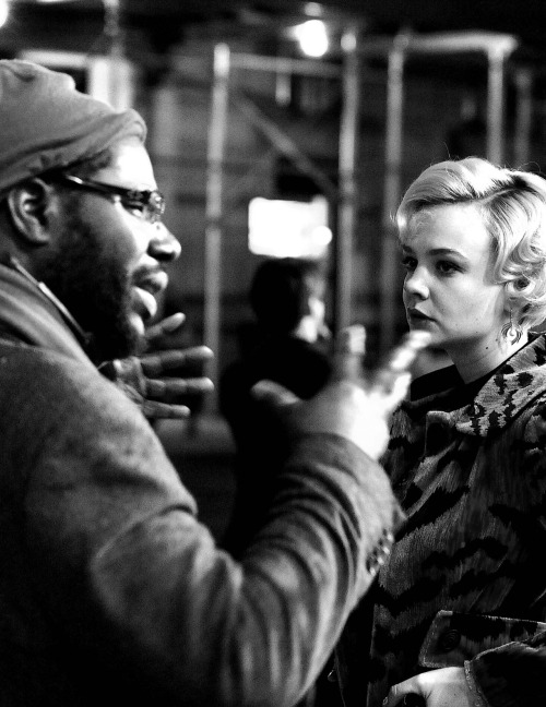 Steve McQueen and Carey Mulligan filming Shame (2011)   An Amazing Director.