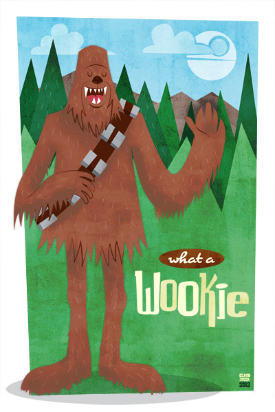 xombiedirge:  Chewbacca… what a Wookie by Ian Glaubinger / Website / Blog