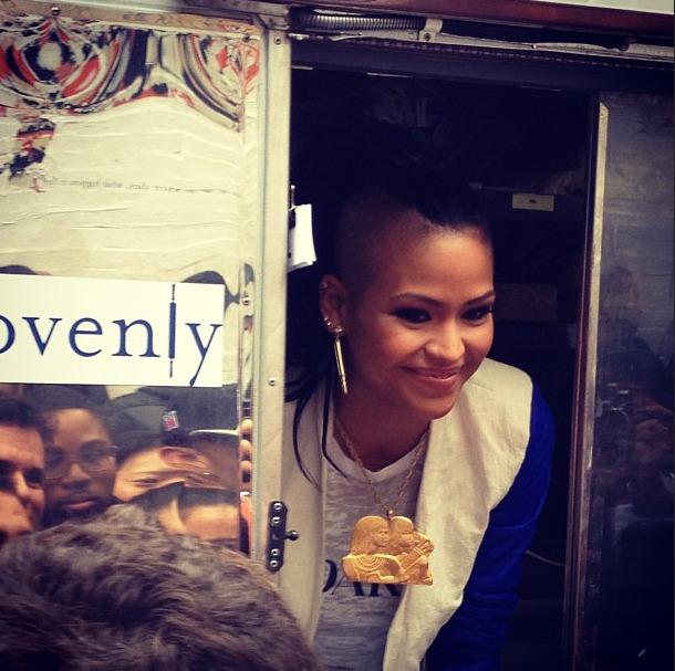Cute pic of Cassie @OfficialCas rockin Melody Ehsani BULLET earrings