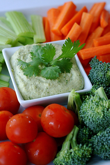 Cilantro-Jalapeno Hummus. Had some this afternoon… oh my god, so good.