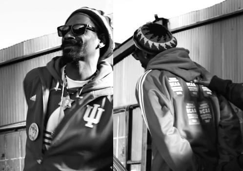 Snoop on the set of his new music video. He obviously knows what's up.