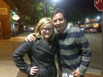 tonight I hung out with Jimmy Fallon.