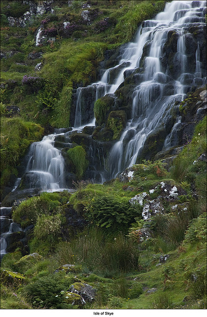 wander-the-galaxies:  Small waterfall near Old Man of Storr, Isle of Skye - Scotland by Marco Boekestijn on Flickr.