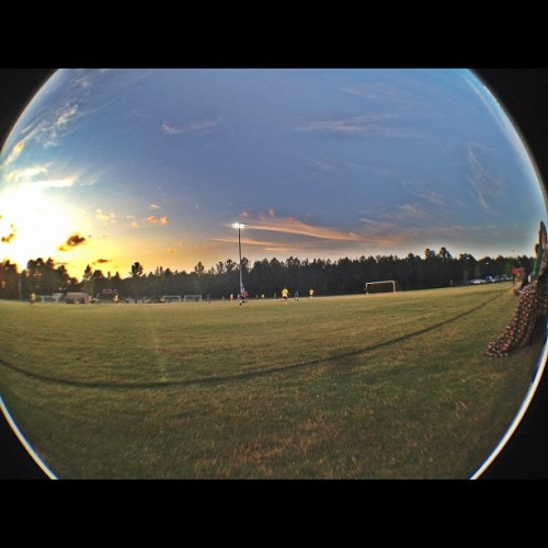 #soccer #sunset #hdr #fisheye (Taken with instagram)