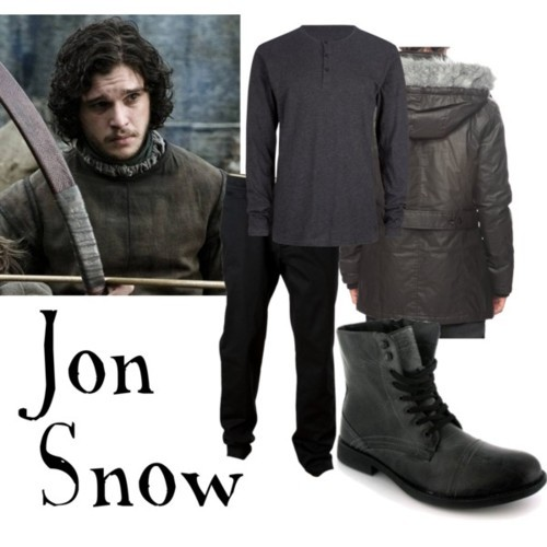 fashionablefandoms:  Jon Snow Volcom Clearwater Pant Men's, $50INSIGHT Principal Mens Henley, $44Faux Fur Hooded Woven Coat | 21 MEN - 2000021977, $41Military shoes  And this is just too easy.